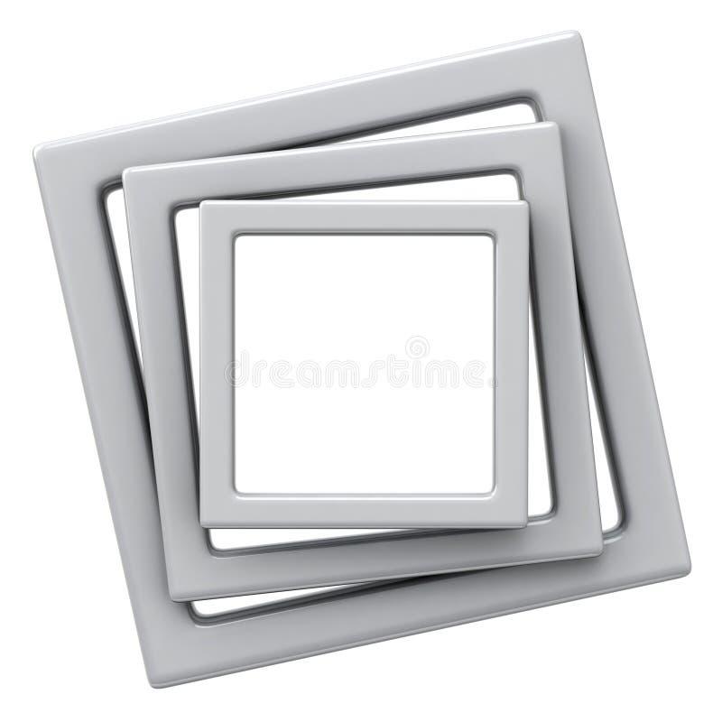 3D illustration frames stock photos