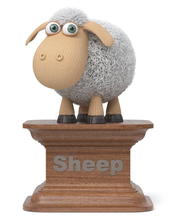 3d illustration funny sheep stock illustration