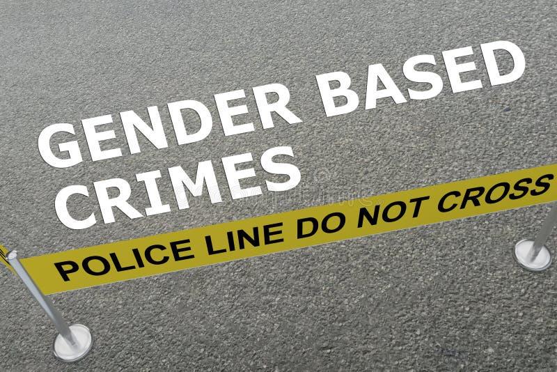 GENDER BASED CRIMES concept royalty free illustration