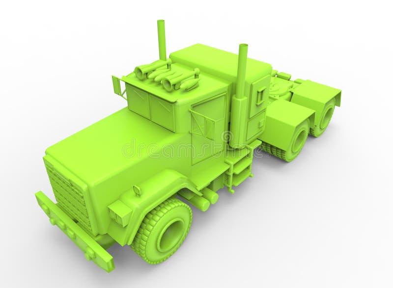 3d illustration of generic truck. royalty free illustration