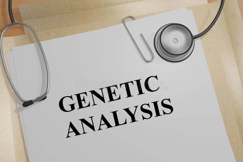 GENETIC ANALYSIS concept vector illustration