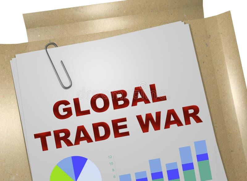GLOBAL TRADE WAR concept stock illustration