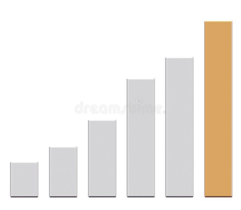 3d illustration golden Business Graph up vector illustration