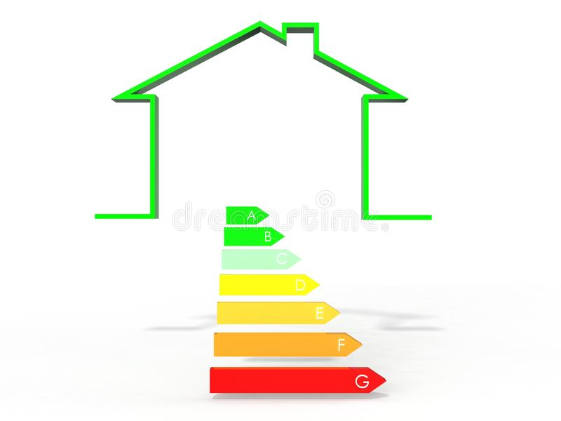 Beautiful Download 3d Illustration Of House With Energy Efficiency Symbol Stock  Illustration   Illustration Of Class,