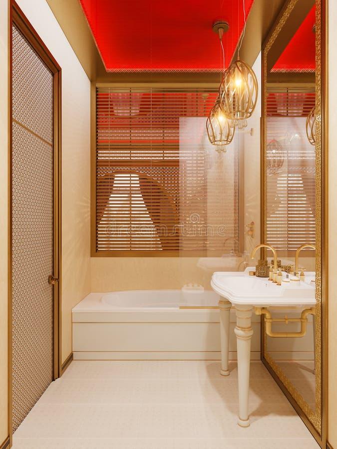 3d Room Interior Design: 3d Illustration Islamic Style Interior Design Stock