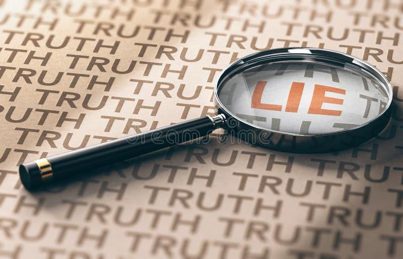 Private Investigator, Lies Detection Concept vector illustration