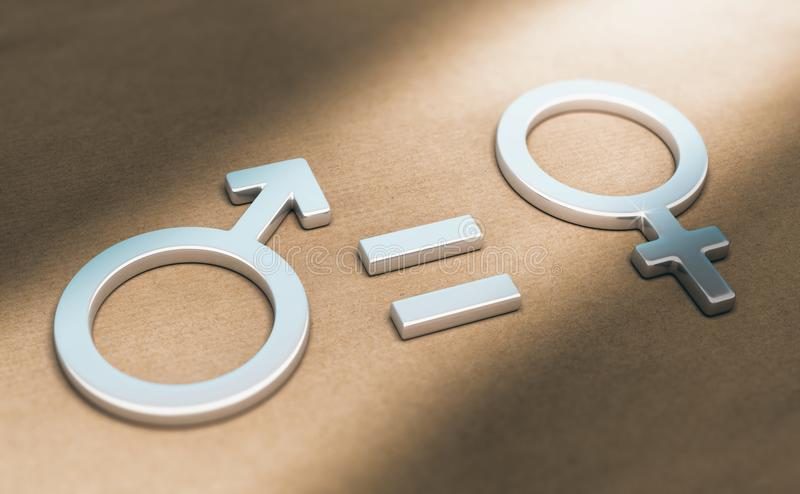 Women Rights, Sexual or Gender Equality stock illustration