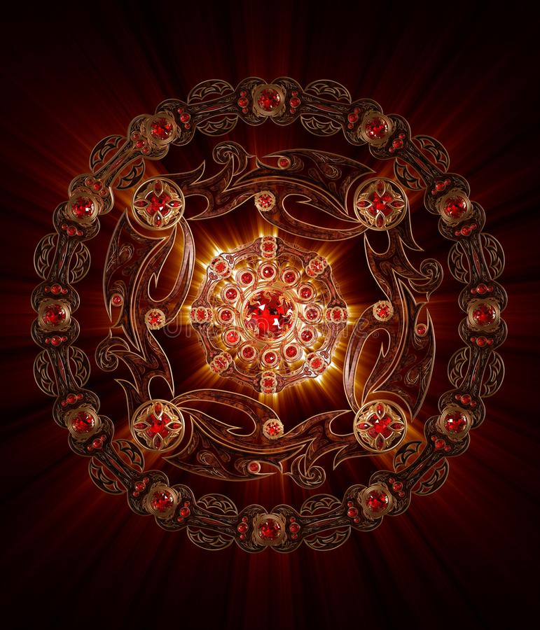 Mandala Spirit of Fire stock images
