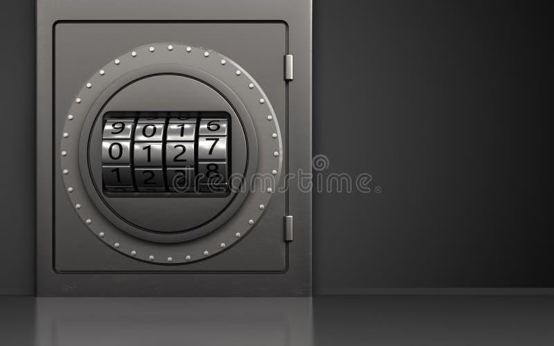 3d metal safe code dial royalty free illustration
