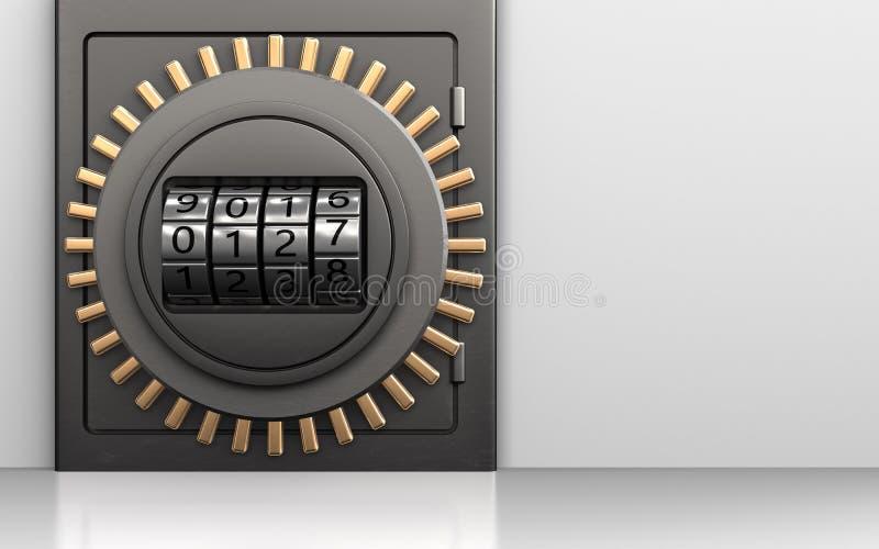 3d safe code dial vector illustration