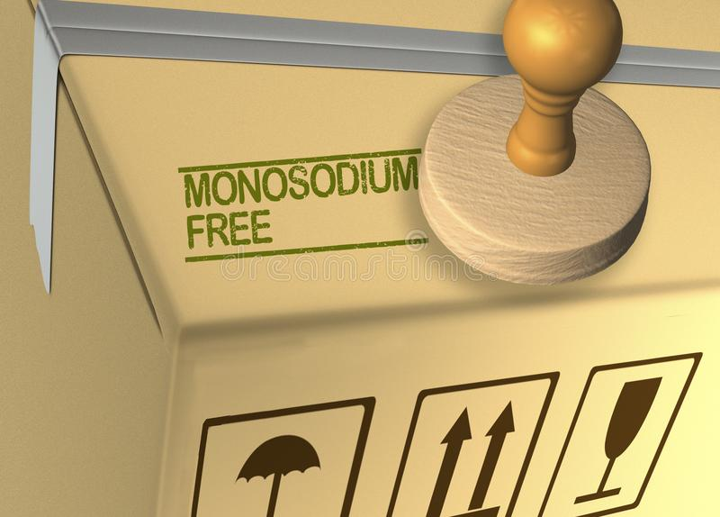 MONOSODIUM FREE concept royalty free illustration
