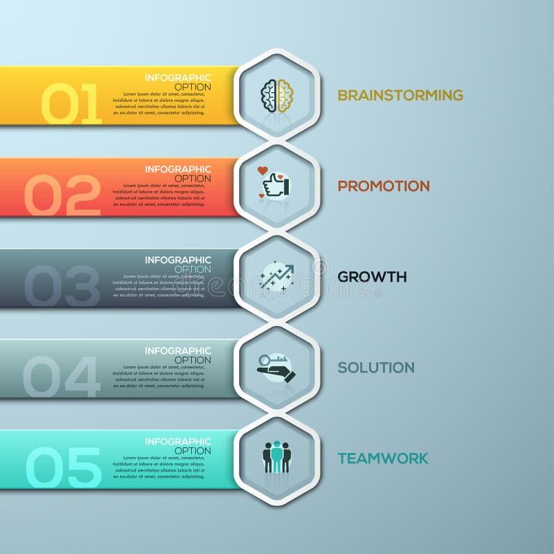 3D illustration numérique abstraite Infographic illustration stock