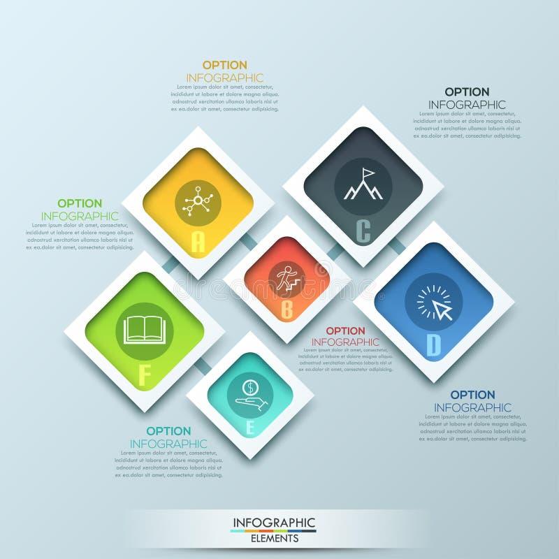 3D illustration numérique abstraite Infographic illustration libre de droits
