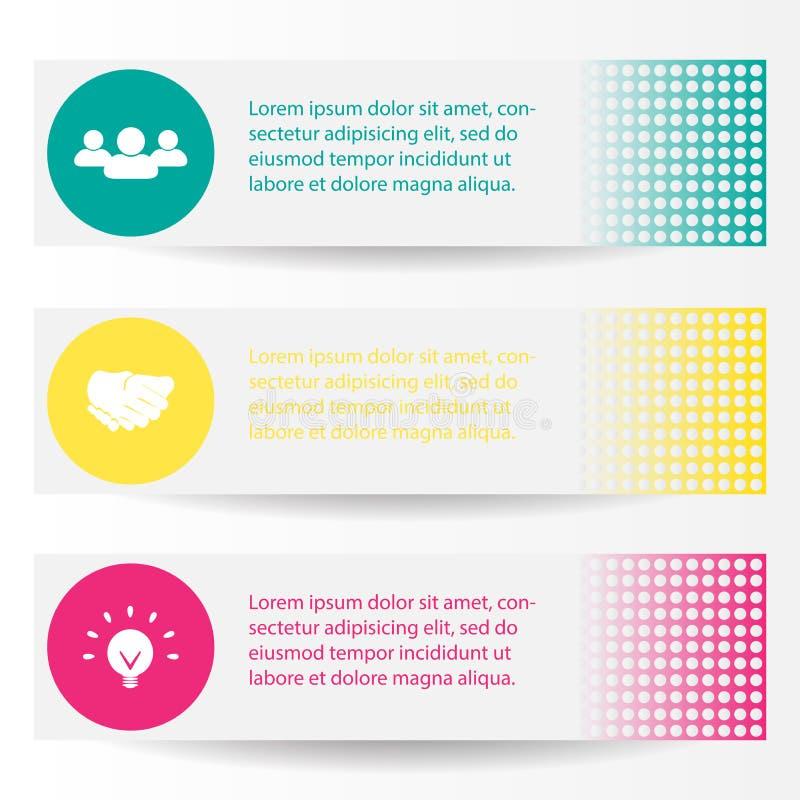 3D illustration numérique abstraite Infographic L'illustration de vecteur peut être employée pour la disposition de déroulement d illustration de vecteur