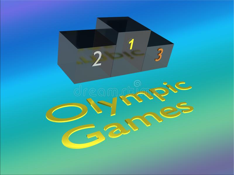 Olympic Games concept royalty free illustration