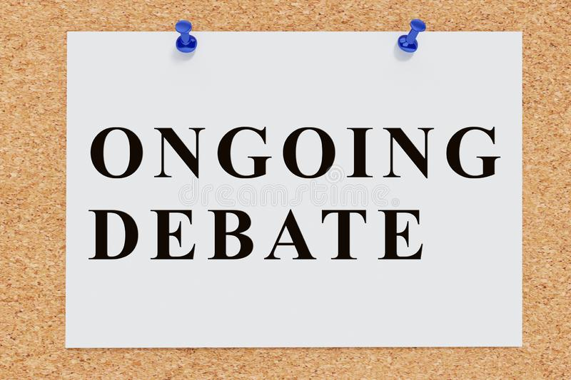 ONGOING DEBATE concept stock illustration