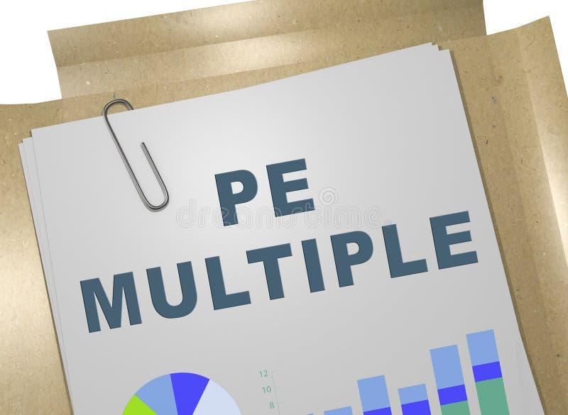 PE MULTIPLE concept vector illustration