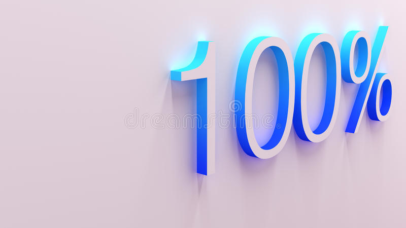 3D illustration of percentage numbers stock illustration