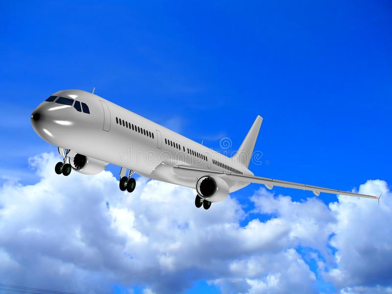 3d illustration of a plane stock illustration
