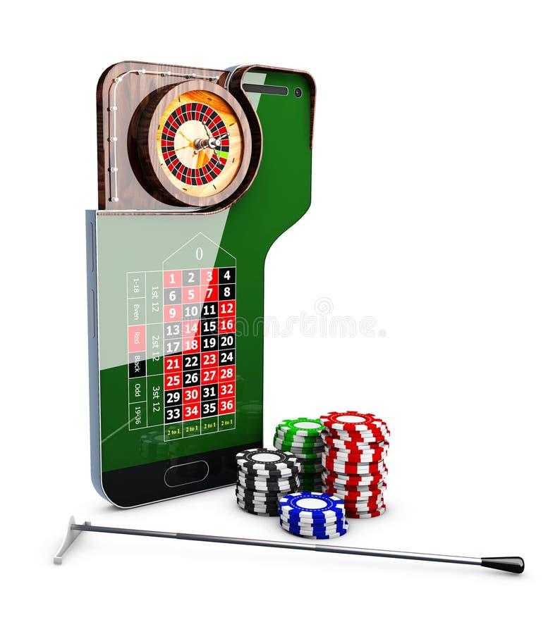 3d Illustration of realistic casino roulette table, casino online concept. 3d Illustration of realistic casino roulette table. Casino online concept stock illustration