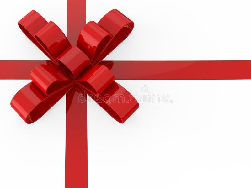 3D illustration red gift bow vector illustration