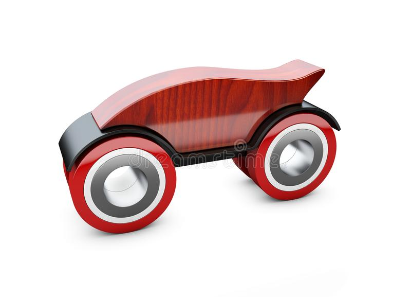 3d Illustration of Red toy car on a white background.  vector illustration