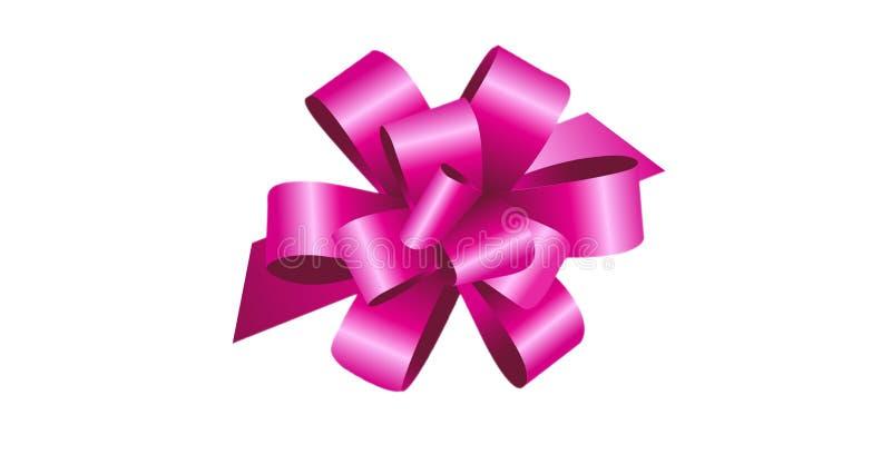 3d illustration of ribbon on white background. Illustration ribbon white background concept graphic bow celebration merry happy birthday gift box creative item vector illustration