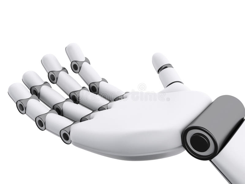 3d illustration. Robotic hand showing something stock illustration