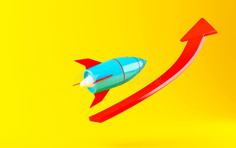 3d Rocket space ship stock illustration