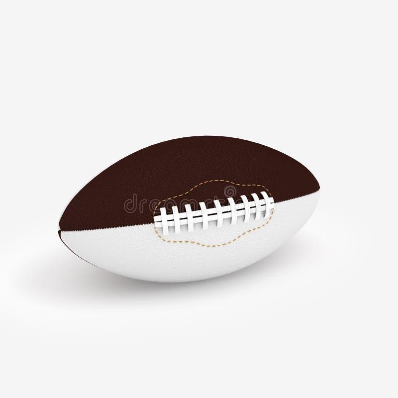 3D Illustration of a Rugby Ball. Render stock illustration