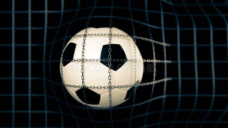 3D illustration soccer ball vector illustration
