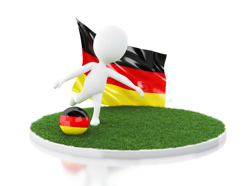 3d Soccer ball with germany flag vector illustration