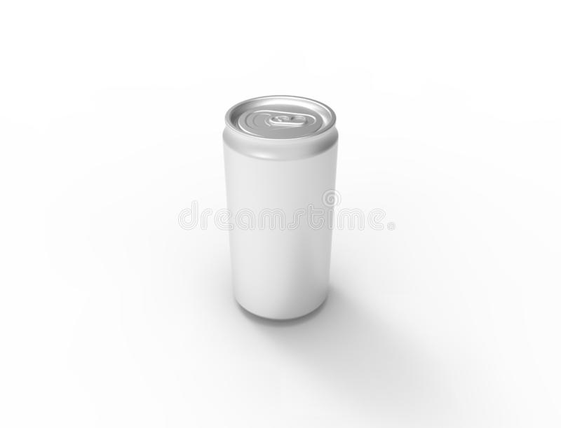 3D illustration of a soda can isolated on white background. stock illustration