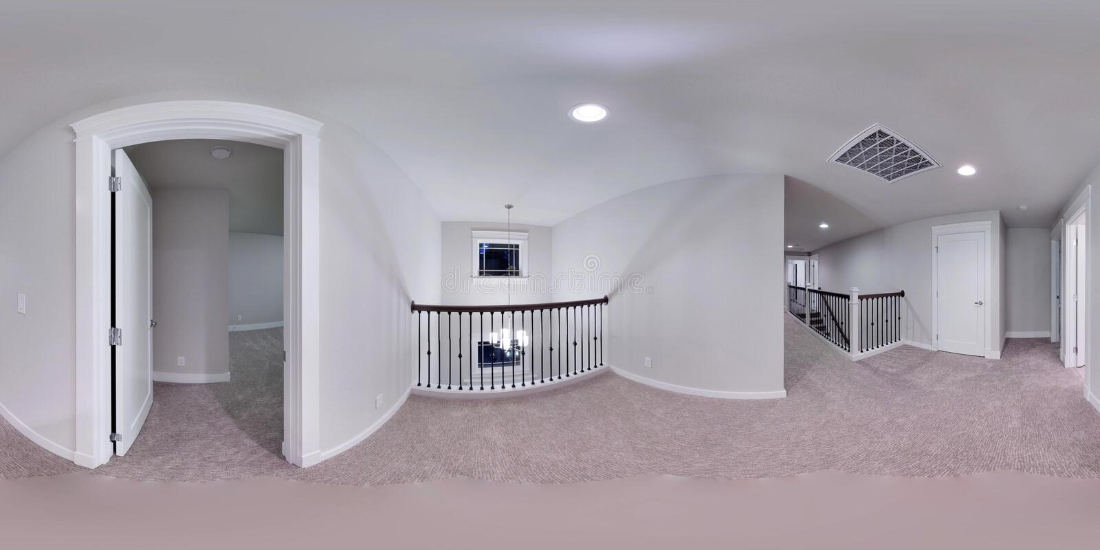 3d illustration spherical 360 degrees, seamless panorama of a house royalty free illustration