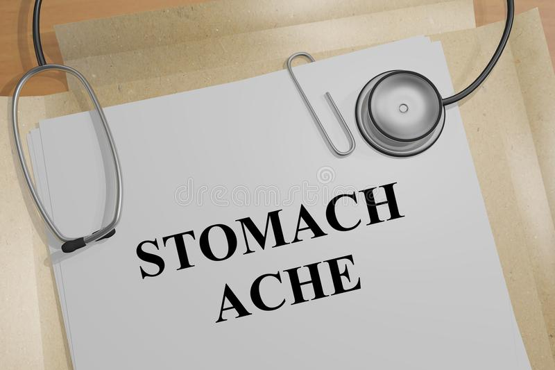 STOMACH ACHE concept royalty free illustration