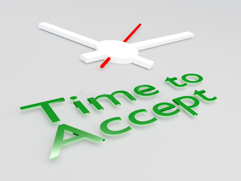 Time to Accept concept vector illustration