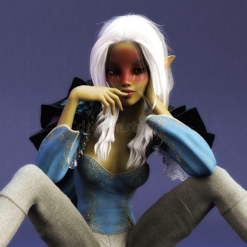 3D illustration d'une femme d'imagination, modèle de Digital illustration de vecteur
