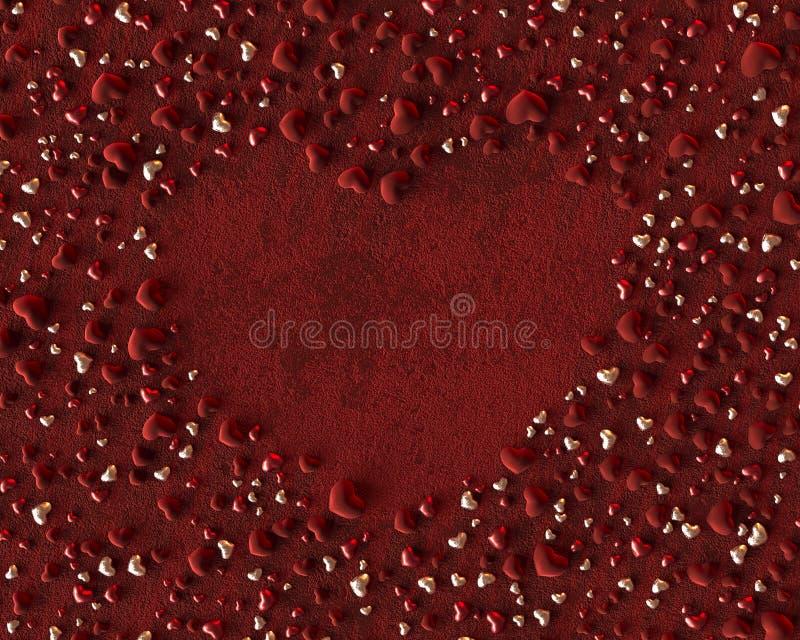3d illustration velvet red heart hearts background. 3d illustration red heart velvet designed 3ds max 3d illustration velvet red heart hearts background for royalty free illustration