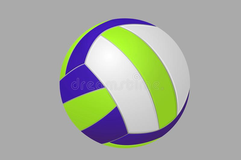 3d illustration of volleyball on grey background royalty free stock photography