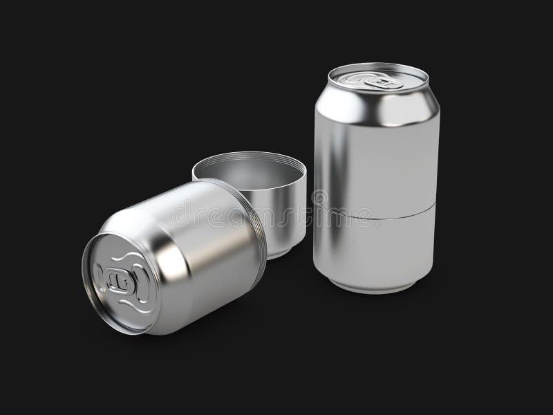Download 3d Illustration Von Geheimen Aluminiumdosen, Lokalisiertes Schwarzes Stock Abbildung - Illustration von getränk, dose: 96929442
