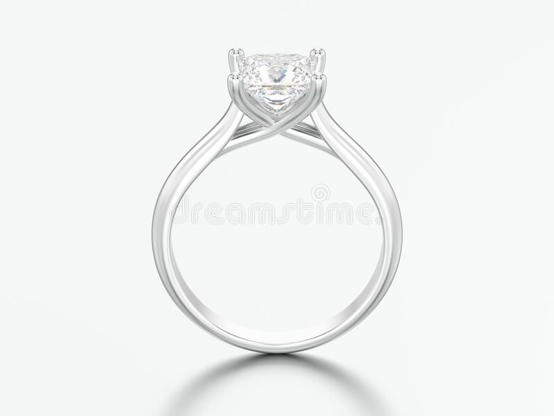3D illustration white gold or silver engagement illusion twisted royalty free illustration