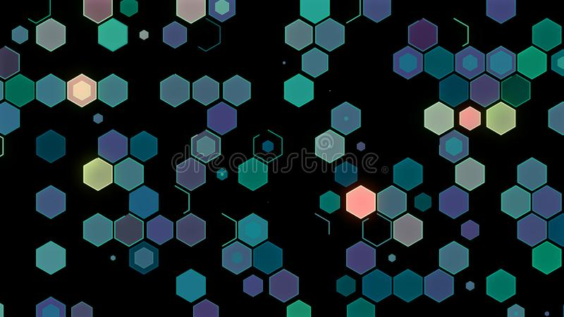 3D illustrations, abstract geometric backgrounds, light green tones, colorful boxes.  stock illustration