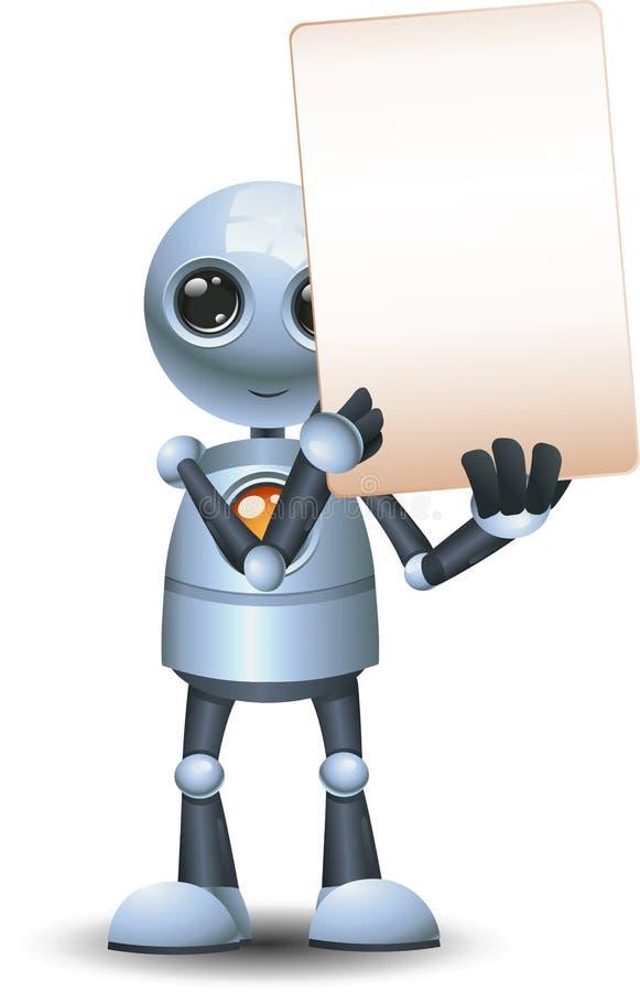 3d illustrazione di un piccolo robot sbirciando e mantenendo la comunicazione del segnale in bianco illustrazione vettoriale