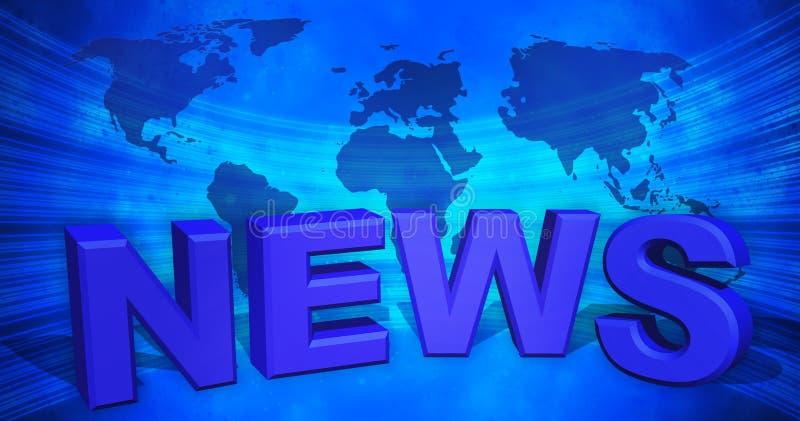 3d illustrazione, fondo astratto, notizie di mondo royalty illustrazione gratis