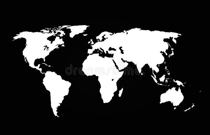 3D-Illyustration continenten op een zwarte achtergrond royalty-vrije stock afbeeldingen
