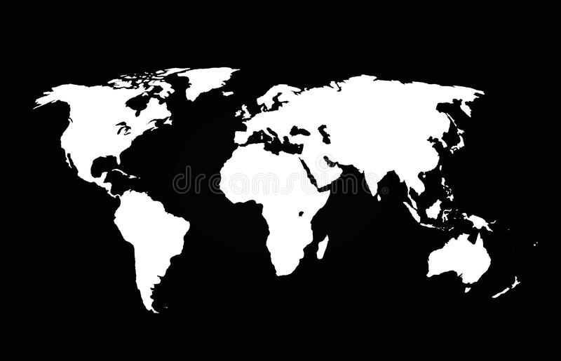 3D-Illyustration continents on a black background. royalty free stock images