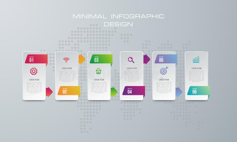 3D ilustra??o digital abstrata Infographic ilustração do vetor