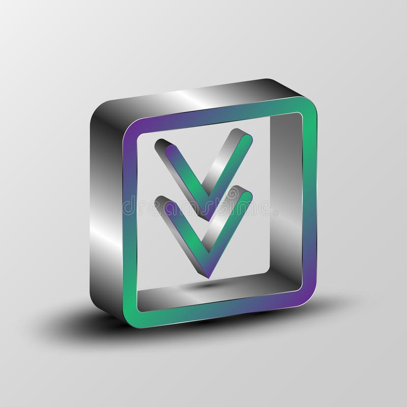 3d ilustracja ściąganie symbol obraz stock
