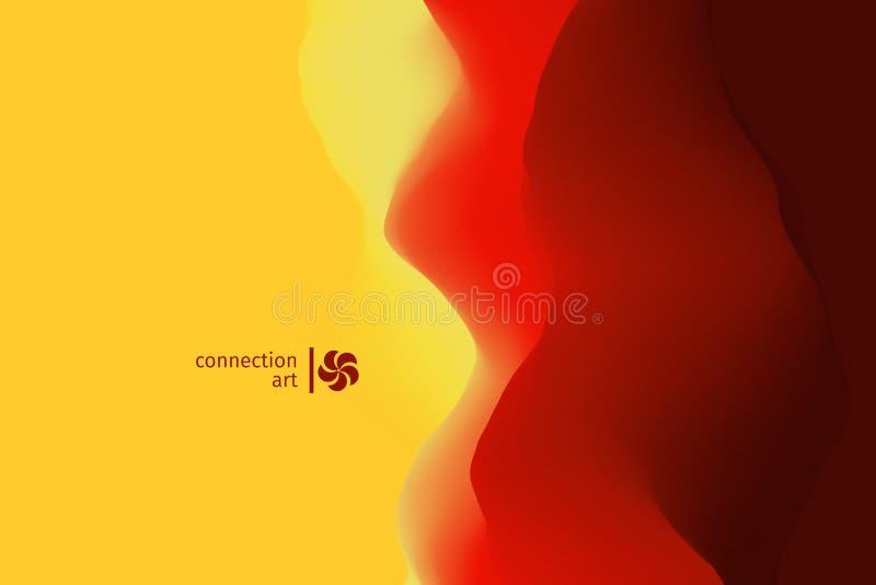 3d ilustracja abstrakcjonistyczny wektor tło falisty Podłączeniowa sztuka Projekta wzór obrazy stock
