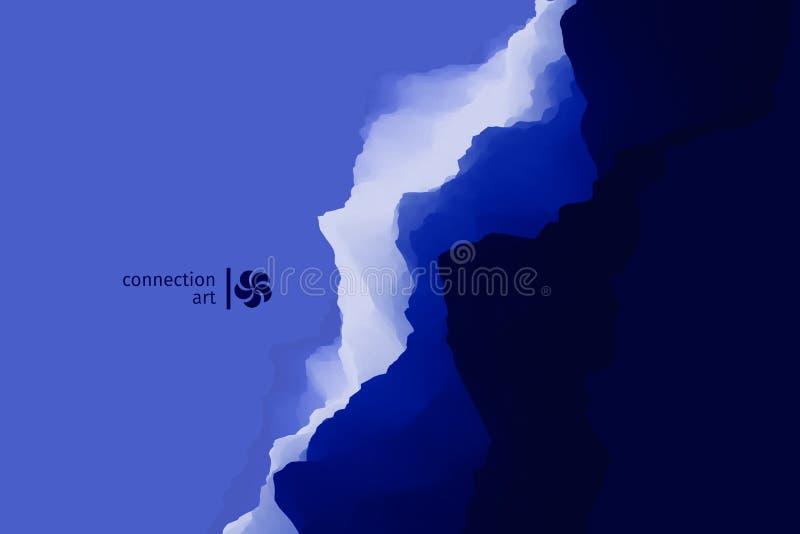 3d ilustracja abstrakcjonistyczny wektor tło falisty Podłączeniowa sztuka Projekta wzór zdjęcie stock